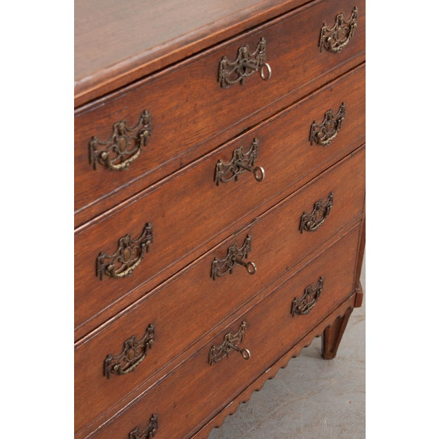 English 18th Century Jacobean Oak Chest of Drawers For Sale In Baton Rouge - Image 6 of 12
