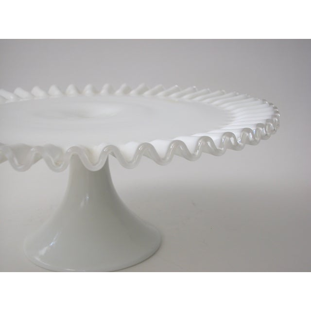 Fenton Silver Crest Cake Stand For Sale - Image 4 of 7