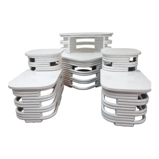 1960s Mid Century Modern Paul Frankl End/Coffee Table Set - 4 Pieces For Sale