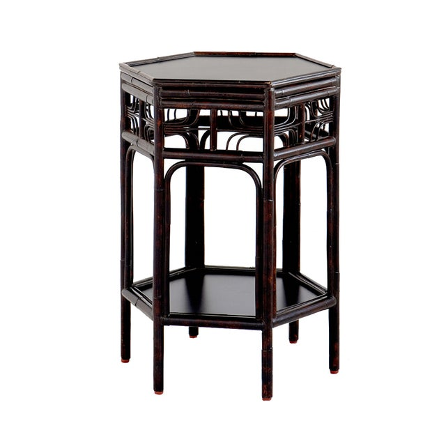 Dark Tortoise Indochine End Table - Image 1 of 4