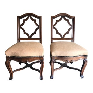 Rosewood English Slipper Chairs - a Pair For Sale
