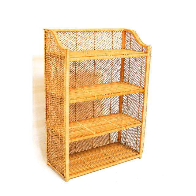 Natural Rattan Bamboo Etagere - Image 2 of 6