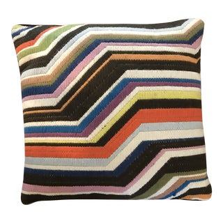 Jonathan Adler Zig Zag Bargello Needlepoint Pillow Cover For Sale