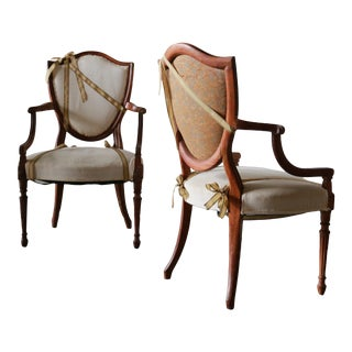 Louis XVI Fauteuils Style Armchairs For Sale