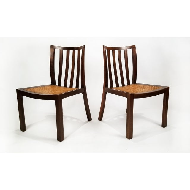 1960s 1960's Baker Far East Collection Dining Room Table and Chairs by Michael Taylor For Sale - Image 5 of 13