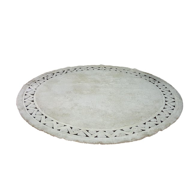 "Edward Fields White Round Wool Rug 10'6"" - Image 1 of 6"