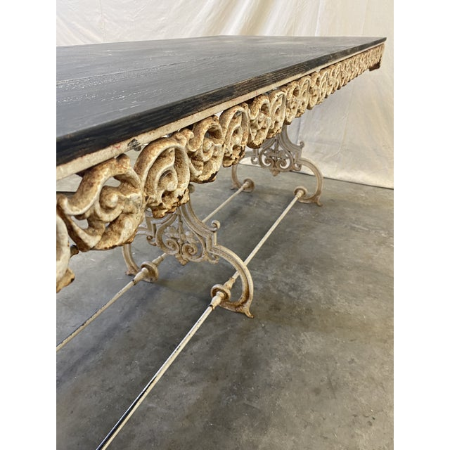 French Provincial French Pastry Table With Iron Base - 19th C For Sale - Image 3 of 12
