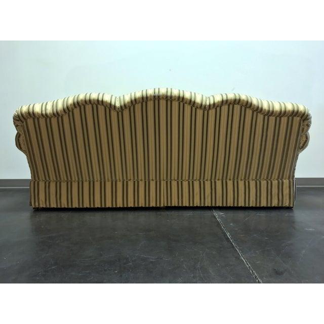 2010s Baker Roll Arm Sofa in Cut Velvet For Sale - Image 5 of 13