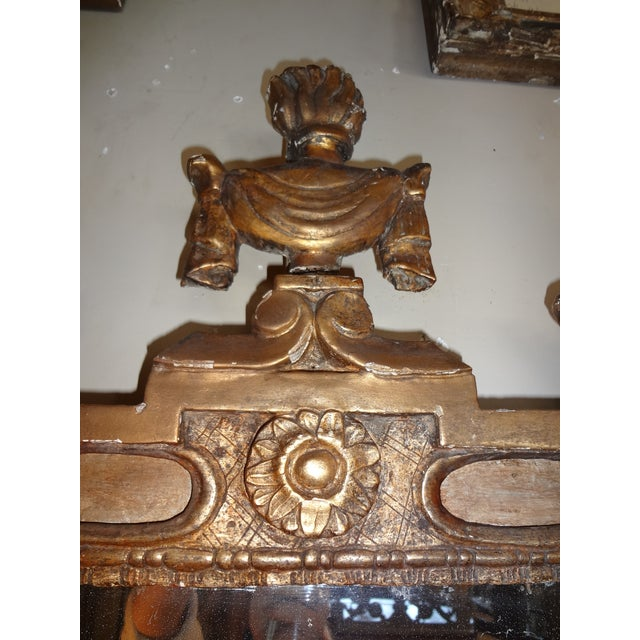 Wood 18th Century Italian Gilt Wood Mirror For Sale - Image 7 of 9