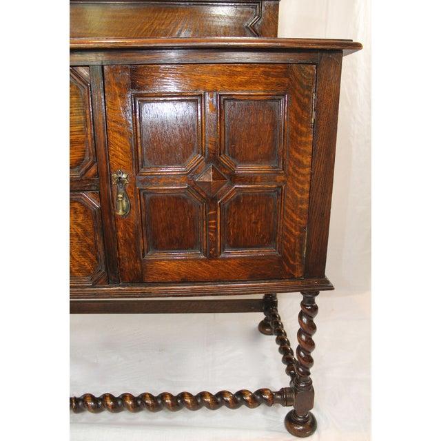 Large Antique Oak Jacobean Sideboard For Sale - Image 5 of 6
