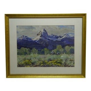 """""""Snow Capped Mountains"""" Original Framed Painting"""