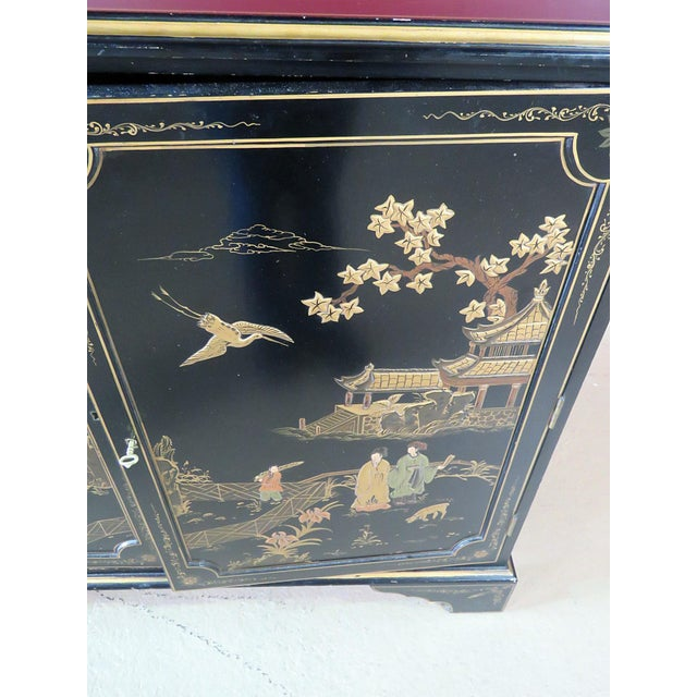 Asian Georgian Furniture Company Chinoiserie Commode For Sale - Image 3 of 10