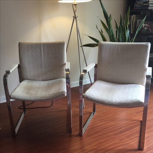Milo Baughman Vintage Accent Chairs - Pair - Image 2 of 11