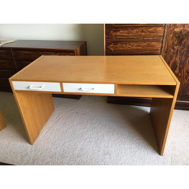 Danish Modern Mid-Century Teak & White Two-Drawer Desk For Sale In Chicago - Image 6 of 13