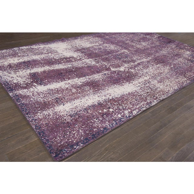 Vintage Overdyed Rug For Sale - Image 4 of 7