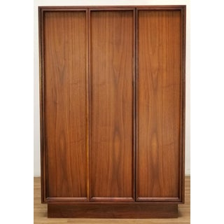 1960s Modern Mid Century Brown Saltman Armoire Cabinet Preview