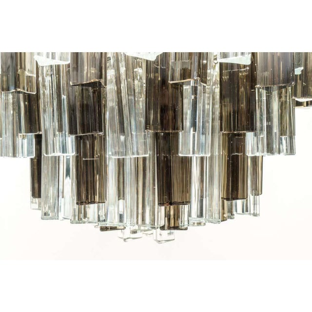 Transparent Murano Glass Chandelier Smokey Topaz by Venini for Camer Glass For Sale - Image 8 of 10