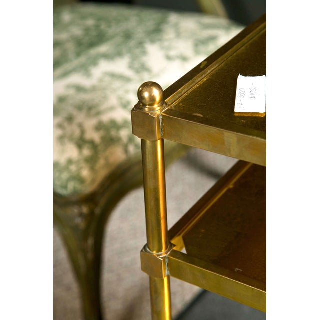 French Art Deco Gilt Brass Tea Cart For Sale - Image 4 of 6
