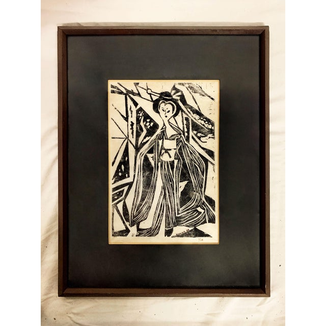 Mid Century Geisha Print Signed, Donna For Sale - Image 9 of 9
