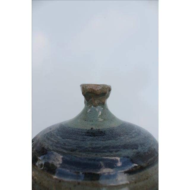 Vintage Green & Blue Glaze Bud Vase - Image 5 of 8