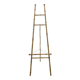 Antique Bamboo Floor Easel Stand For Sale
