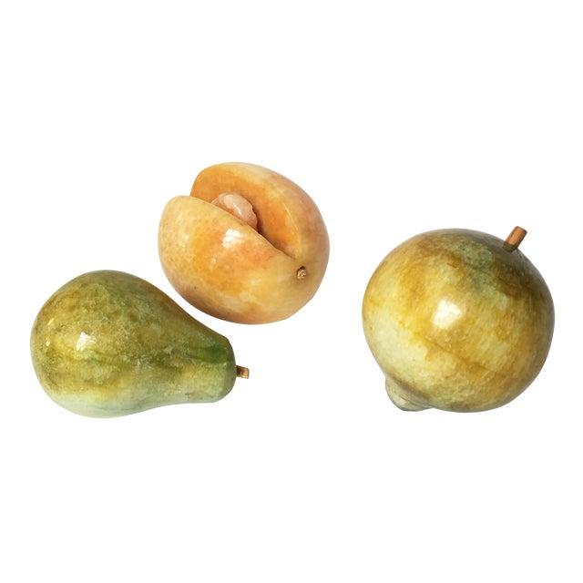 Decorative Marble Fruit - Set of 3 - Image 1 of 6