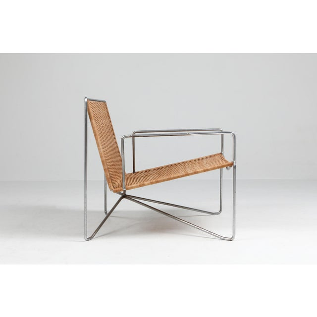 Wicker Rattan & Steel Armchairs by Gelderland - 1964 For Sale - Image 7 of 13
