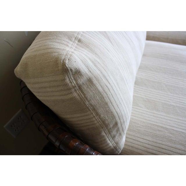 McGuire McGuire Antalya Sofa Dark Tobacco Baker Fabric For Sale - Image 4 of 7