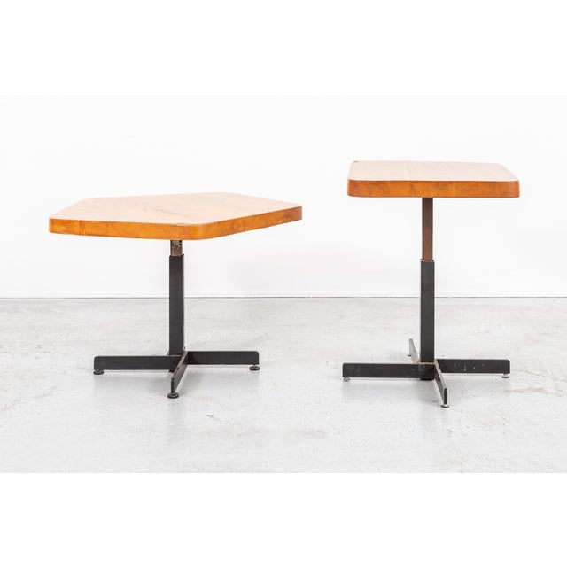 Les Arcs Adjustable Square Table by Charlotte Perriand For Sale - Image 10 of 11