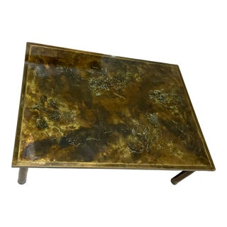 "1960s Philip and Kelvin LaVerne Bronze ""Classical Muses"" Coffee Table For Sale"