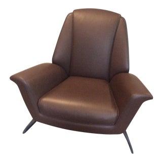 Walter Maria De Silva Poltrona Frau Brown Leather Luft Chair