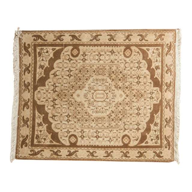 "Vintage Bijar Square Rug - 2'6"" X 3' For Sale"
