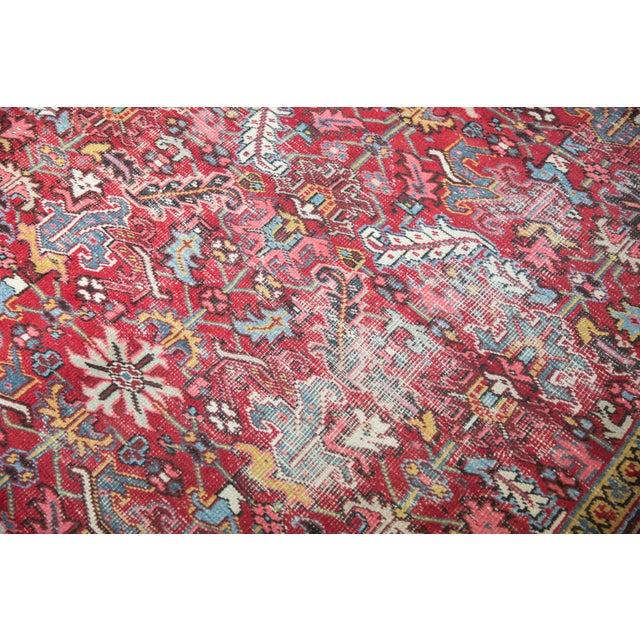 """Vintage Heriz Carpet- 7'6"""" X 10' For Sale - Image 10 of 12"""