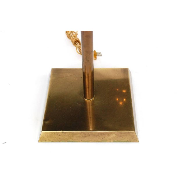 Mid 20th Century Vintage Frederick Cooper Brass Floor Lamp For Sale - Image 5 of 9