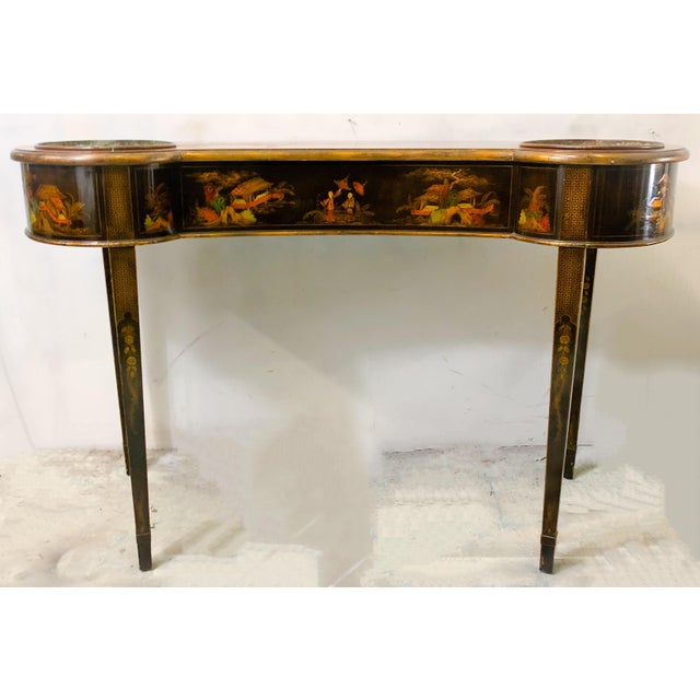 Schmieg & Kotzian Chinoiserie Console Table / Planter - Image 2 of 7