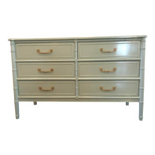 1970s Henry Link Faux Bamboo Dresser For Sale
