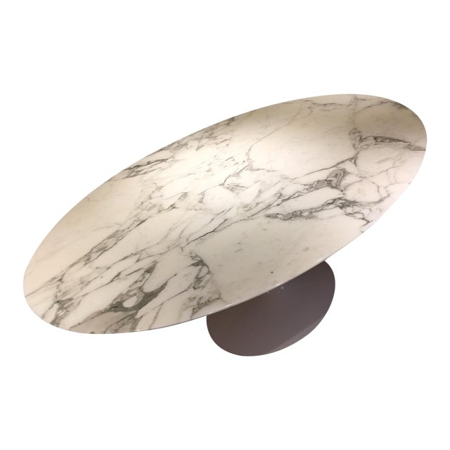 Knoll Carrera Marble Dining Table - Image 1 of 7
