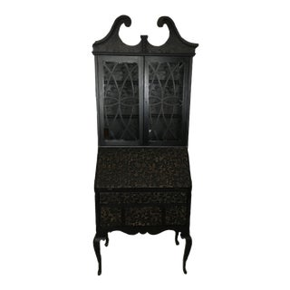 Black Lace Secretary Desk For Sale