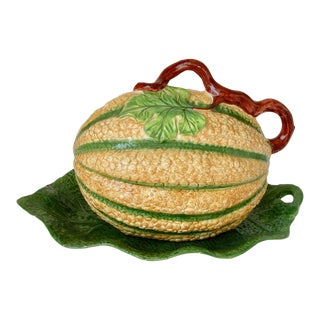 Vintage Mottahedeh Melon Tureen and Underplatter - 2 Pieces For Sale