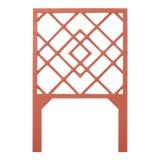 Image of David Francis Furniture for Chairish Darien Headboard Twin, Baked Terra Cotta For Sale