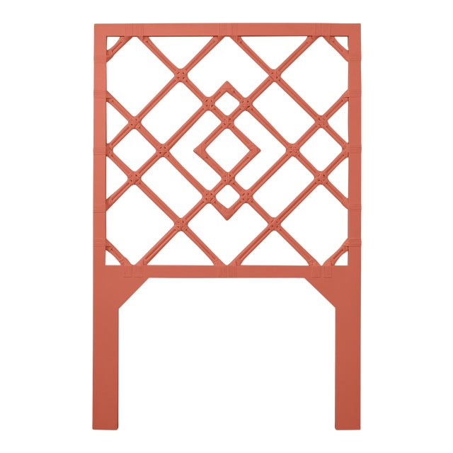 David Francis Furniture for Chairish Darien Headboard Twin, Baked Terra Cotta For Sale