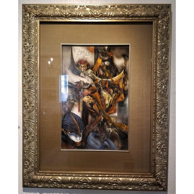"""Vladimir Ryklin """"Cirque De Soleil 1"""" Oil Painting on Canvas For Sale - Image 9 of 10"""