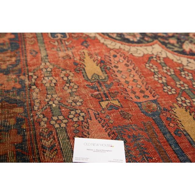"Antique Bijar Carpet - 7'6"" X 11'10"" - Image 7 of 7"