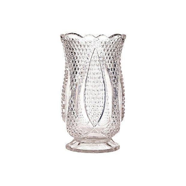Diamond-Point Designed Glass Celery - Image 1 of 3