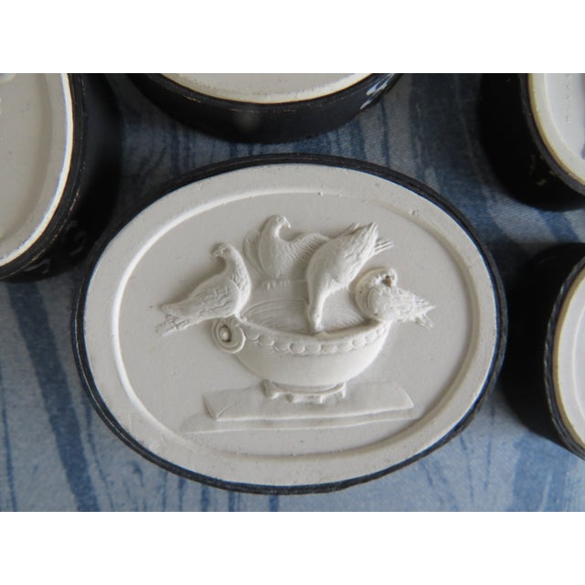 19th Century Grand Tour Neoclassical Plaster Intaglios - Set of 7 For Sale - Image 4 of 13