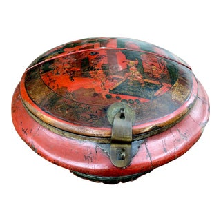 Hand-Made Chinese Red Lacquered Chinoiserie Box For Sale