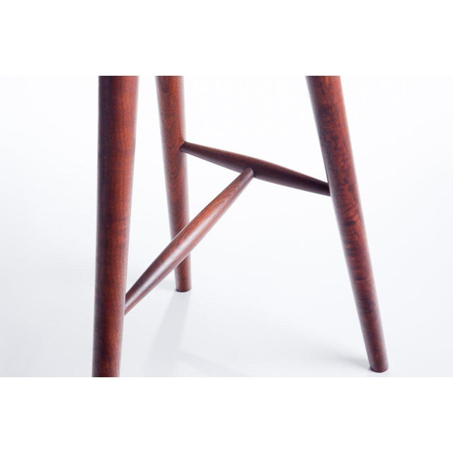 Hand Crafted Stool in Walnut For Sale In Providence - Image 6 of 9