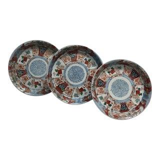 1940s Vintage Nesting Imari Bowls - Set of 3 For Sale