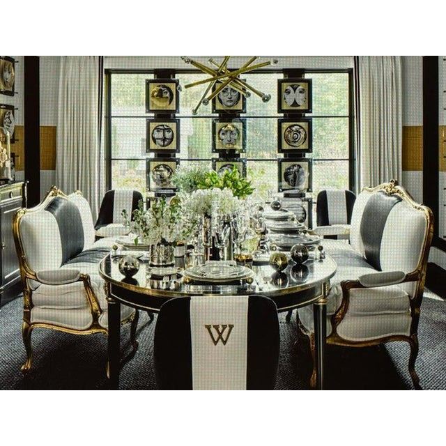French Maison Jansen Ebony Dining Table, Louis XVI Style W Bronze Mounts & Three Leaves For Sale - Image 3 of 13
