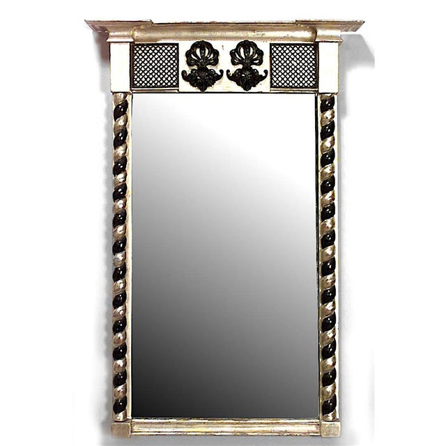 English English Regency Gilt and Black Lacquered Wall Mirror For Sale - Image 3 of 3